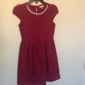 Girl's Monteau Deep Red Formal Dress